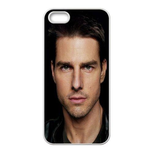 Tom Cruise Man Black Brunette 18936 coque iPhone 4 4S cellulaire cas coque de téléphone cas blanche couverture de téléphone portable EOKXLLNCD20454
