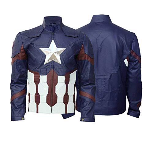 leather captain america jacket - 3