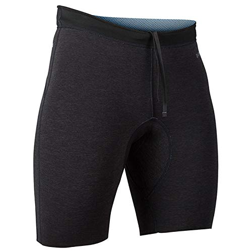 NRS Men's HydroSkin 1.5 Shorts Charcoal Heather Black L