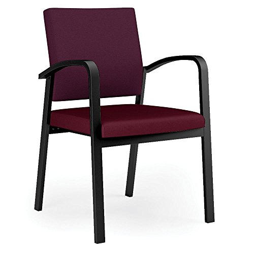 Newport Fabric Back Vinyl Seat Guest Chair Dimensions: 23