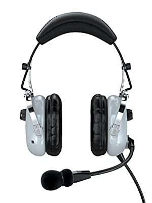 FARO G2-ANR Premium ANR Pilot Aviation Headset with MP3 Input, Gray