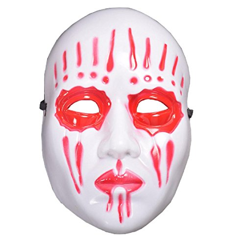 Happy Halloween, Mchoice Halloween Party Mask Cosplay Disgusting Face Mask Terror Mask Head Mask (Red)