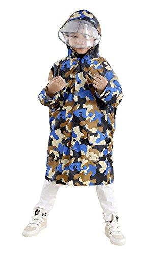 Camouflage Hooded Phocho Raincoat Rainwear