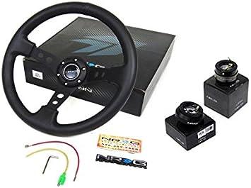 94-01 Acura Integra NRG350MM Steering Wheel Quick Release Black Hub