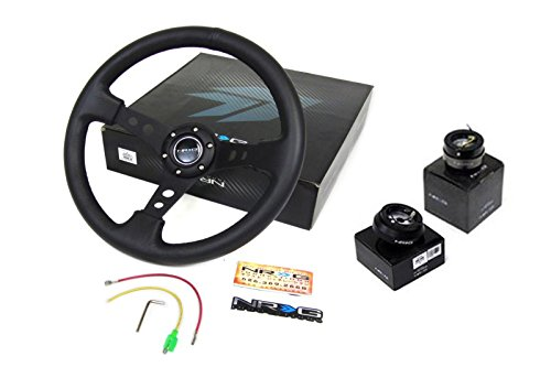 00-10-Ford-Focus-NRG-350MM-Steering-Wheel-Hub-Quick-Release-Black-Combo