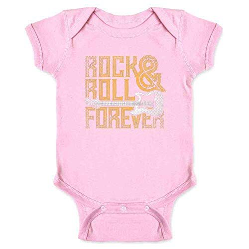 Rock and Roll Forever Pink 12M Infant Bodysuit