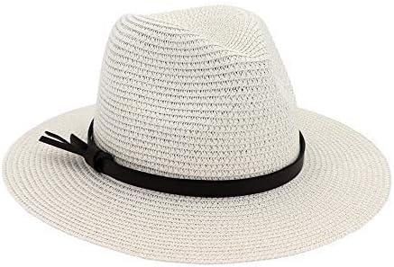 Elegante Gorra de Paja para la Playa Sombrero de Ala Ancha Gorra ...