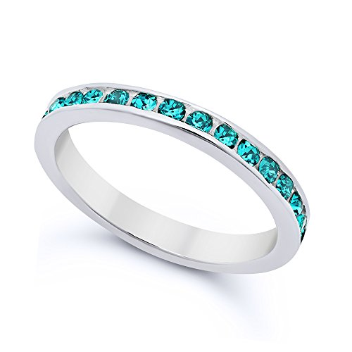 Genuine Blue Zircon Ring - 5