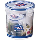 Lock & Lock HPL932D Food Container, Clear/Blue, 700 ml, Round, Plastic
