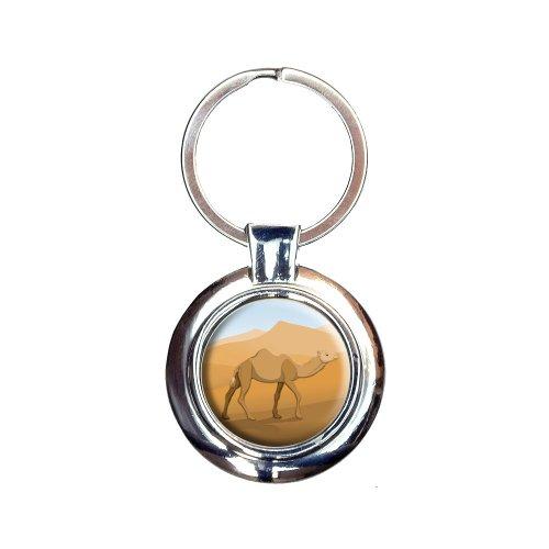 (Camel Walking Through Desert Keychain Key Ring)