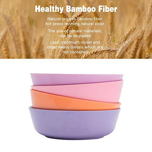 Bamboo Kids Bowls,Set of 4 (20 oz) - Non Toxic & Safe Toddler Bowls,...