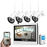 Best Security Camera Systems - Wireless Security Camera System with Monitor,Hornbill 1080P 8 Review