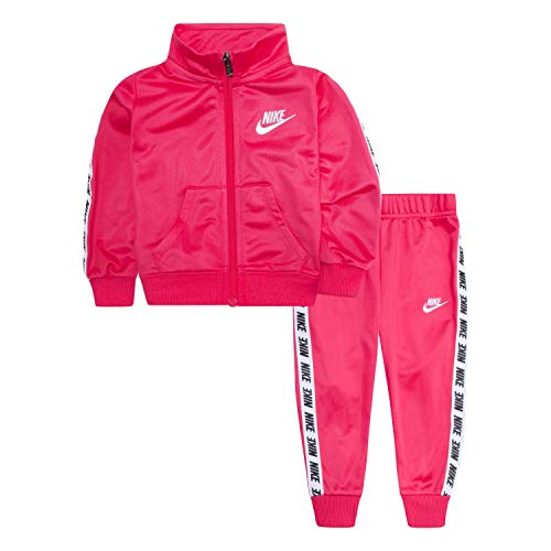 Nike Kids Girls Sets - Nike Baby Girls Tricot Track Suit 2-Piece Outfit Set, Rush Pink, 18M