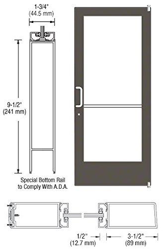 CRL-U.S. Aluminum Bronze Anodized Standard Active Leaf of Pair 72'' x 84'' Series 400 Medium Stile Offset Pivot Entrance Door by CR Laurence (Image #1)