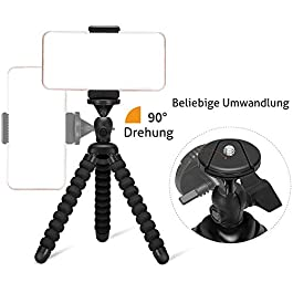 Ailun Phone Camera Tripod Mount/Stand,Compact Phone Holder,Compatible for iPhone 11 12 Pro Max mini and More Cellphone…