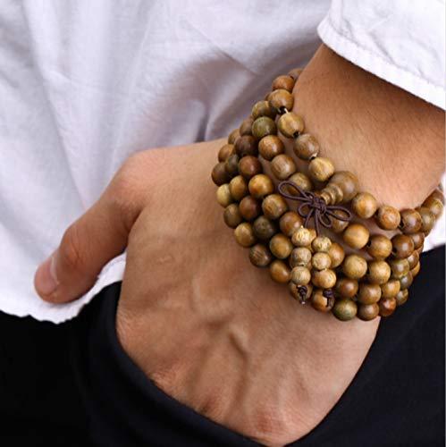 (Prayer Beads Tibetan Buddhist Wooden Bracelets | Buddha Bangles | Rosary Necklace Jewelry)