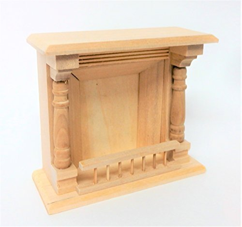 Miniature Fireplace (Melody Jane Dollhouse Unfinished Fireplace Miniature 1:12 Scale Furniture)