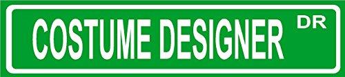 Wall Street Costume Designer (Novelty COSTUME DESIGNER street sign aluminum 4