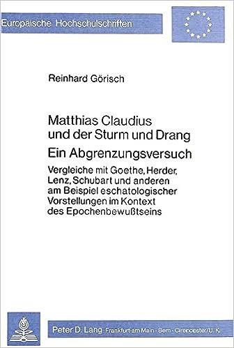 Goethe liebesgedichte sturm und drang