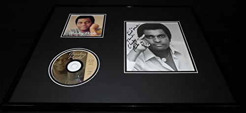 Charley Pride Signed Framed 16x20 Pride of Country CD & Photo Set