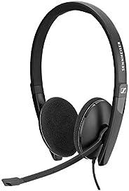Sennheiser PC 8.2 CHAT, fone de ouvido com fio para jogos casuais, e-learning e música,microfone com cancelame