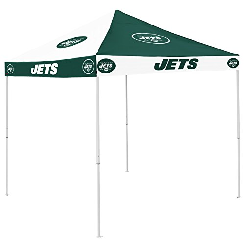 Logo Brands NFL New York Jets Checkerboard Tent Checkerboard Tent, Hunter, One Size