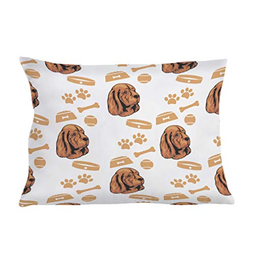 Style In Print Personalized Pillow Case Sussex Spaniel Dog Polyester Pillow Cover 20INx28IN Design Only Set of - Bath Two Sussex Light