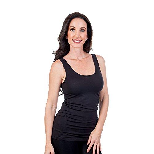 Pima Cotton Tank Top (Steven Craig Women's Layering Tank Top Black Medium)