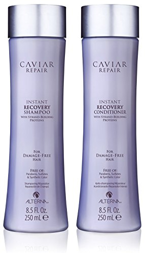 Caviar Repair Rx Instant Recovery Shampoo and Conditioner Set, (Abba Products Hair Shampoo)