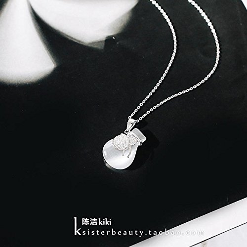 Generic K_sister_hoist_Fukubukuro_Chinese_wind_ 925 Silver _gourd_decoration_good_luck_ clavicle chain necklace Pendant women girl _Fukubukuro by Generic