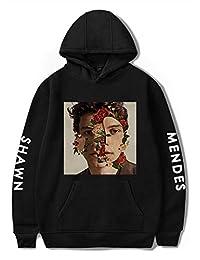 Silver Basic Unisex Shawn Mendes Boy's Long Sleeve Hoodies Winter Sweatshirts Fan Pullover