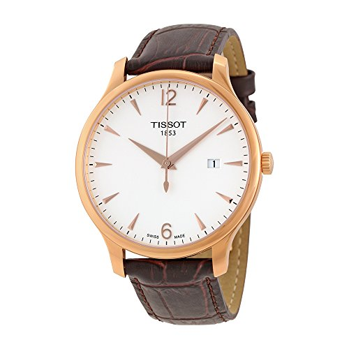 Bezel Pvd Strap (Tissot Men's T0636103603700 Analog Quartz Brown Leather Strap Silver Dial)