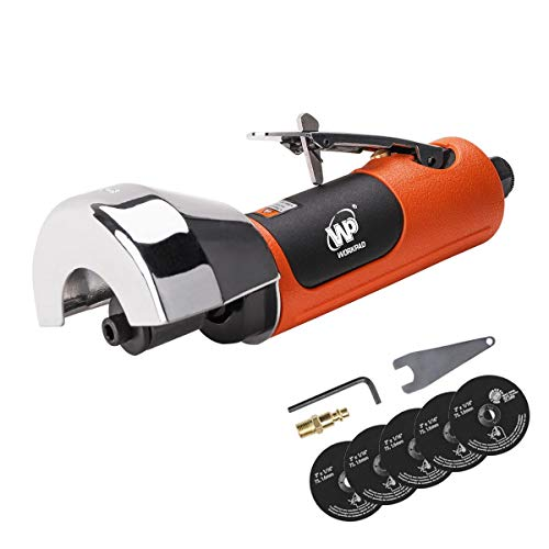 WORKPAD Air Cut Off Tool, Equipped with 5-Pieces 3″ Cutting Disc Set, Pneumatic Tools