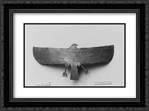 (Third Intermediate Period - 24x18 Black Ornate Frame and Double Matted Museum Art Print - Pectoral Ornament of Gautsoshen )