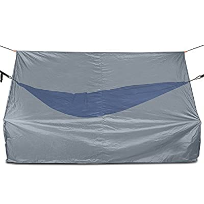 Oak Creek Advanced Hammock Rain Fly. 110 Inch Multipurpose Rainfly for Hammocks. Provides Protection from The Elements. Lightweight Waterproof Tarp Works with Any Camping Hammock: Sports & Outdoors