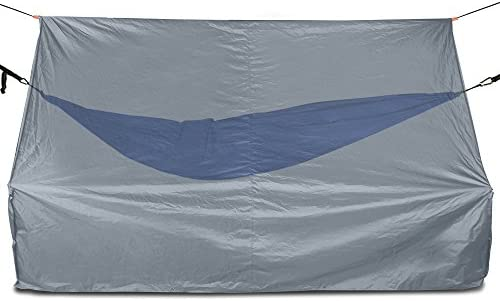 280 Centimeter Multipurpose Rain Fly For Hammocks Large Lightweight Waterproof Tarp Works With Any Camping Hammock Provides Protection From The Elements Advanced Hammock Rain Fly
