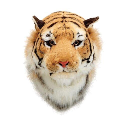 Plush Tiger Head Wall Decor Great Tiger Fan Mascot -