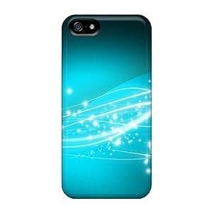 YIUtbsd489IdXsf Tpu Phone Case With Fashionable Look For Iphone 5/5s - Aqua Shooting Star Shine