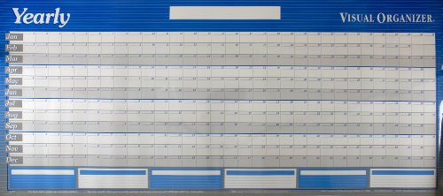 AT-A-GLANCE Visual Organizer Horizontal Erasable Wall Planner, Jumbo Wall, Blue, 2012 (A177)