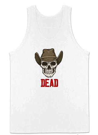 c13265d6fb977 Amazon.com  Dead Cowboy Skull Western Wild West Mens Tank Top  Clothing