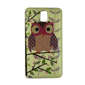 Protector Cover Case Owl Silicone Skin Soft TPU Gel For Samsung Galaxy Note 3 III N9000 (NO.3) (Package includes: 1 X Screen Protector and Stylus Pen image)