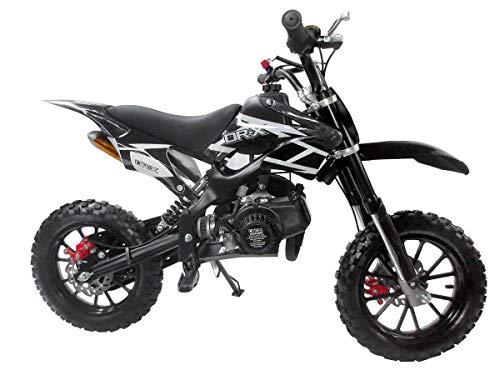 SYXMOTO Kids Mini Dirt Bike Gas Power 2-Stroke 50cc Motorcycle Holeshot Off Road Motorcycle Holeshot Pit Bike, Fully Automatic Transmission, Black