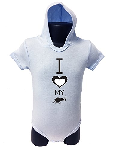 83 HOODIE BABY ROMPER SHORT SLEEVE ONESIE UNISEX FUNNY I LOVE MY AUNT GIFT POLY BAGGED A&G BRAND (0-6 Months, Light (Juegos De Top Baby Games Halloween)