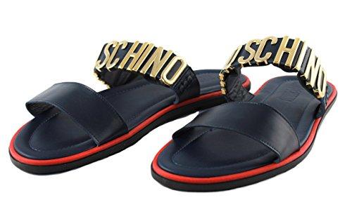 Moschino Schuhe Herrenschuhe Sandalen Badeschuhe Shoe 56085 blau