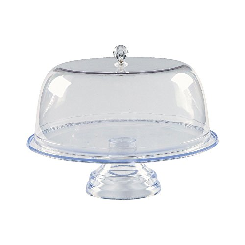 Clear Footed Cake Stand with Cover (Cover Cake With Footed Stand)