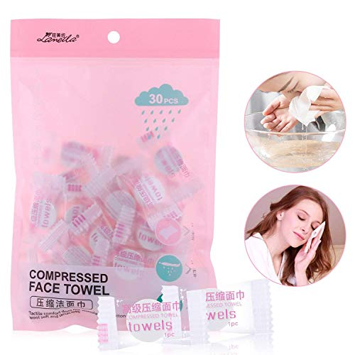 Yousha 30 piece Portable /Disposable compressed facial towels