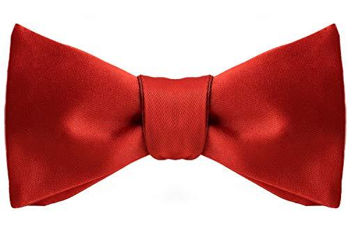 Formal Bow Ties for Men - Self Tie Mens Bowtie Tuxedo Wedding Bow Tie Bowties (Red)