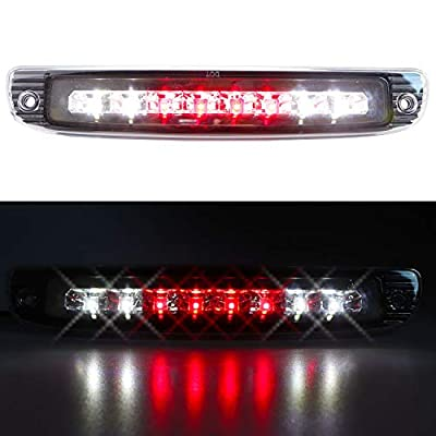 For 1997-2007 Dodge Dakota LED 3rd Third Brake Cargo Light Center Rear High Mount Stop CHMSL Lamp, Electroplating Housing Clear Lens: Automotive