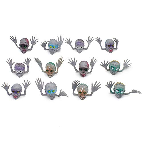 12 Pack Monster Finger Puppets, Ghost Head Plastic Finger Puppets, Exotic Ghost Finger Toys for Telling Story Birthday Holiday Christmas Halloween Party Favors