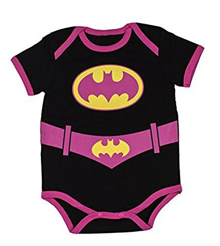 [StylesILove Super Hero Inspired Short Sleeved Costume Baby Bodysuit (95/18-24 Months, Batgirl)] (18 Month Superhero Costumes)